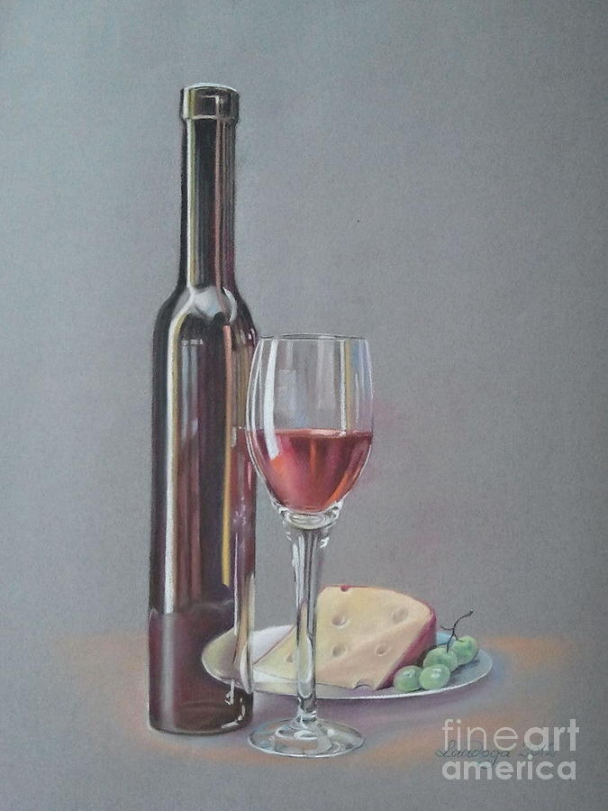 Grapes Painting -  Wine by Ahto Laadoga