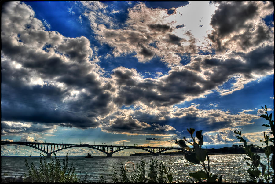 001 Peace Bridge Series II Beautiful Skies Photograph by Michael Frank Jr