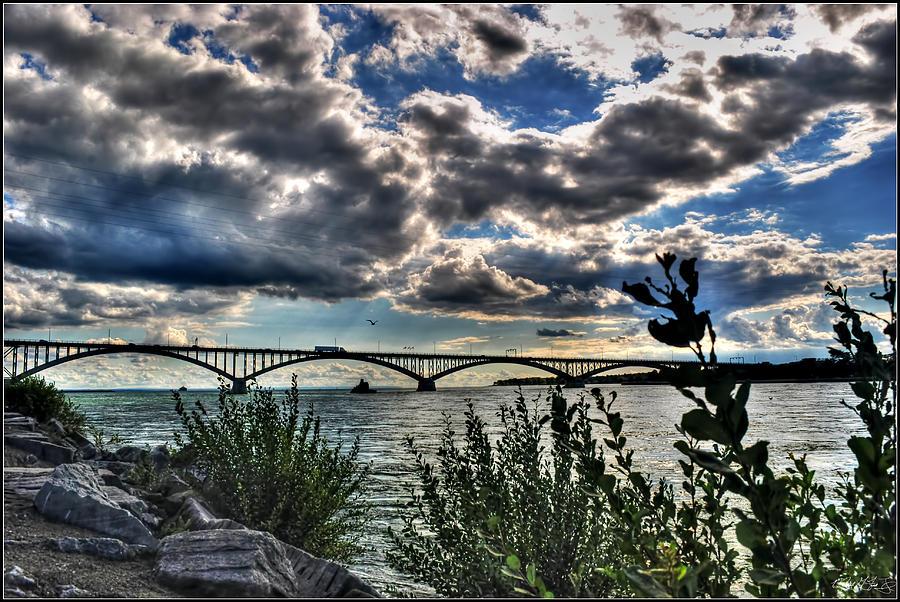 003 Peace Bridge Series II Beautiful Skies Photograph by Michael Frank Jr