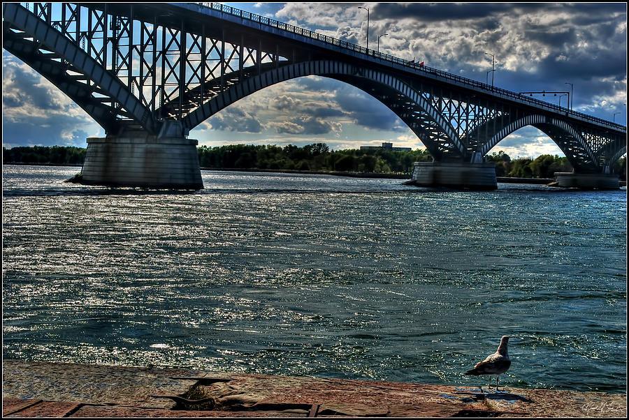 005 Peace Bridge Series II Beautiful Skies Photograph by Michael Frank Jr