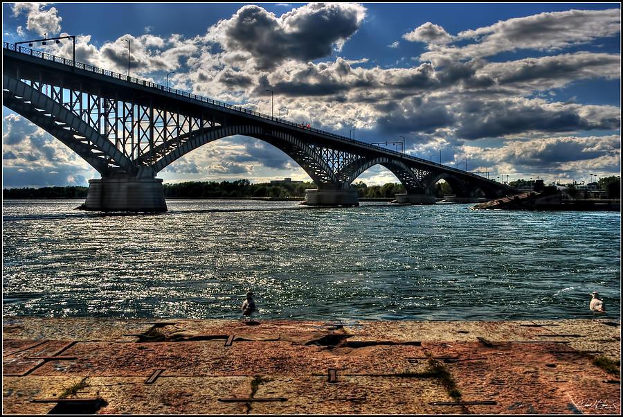 007 Peace Bridge Series II Beautiful Skies Photograph by Michael Frank Jr