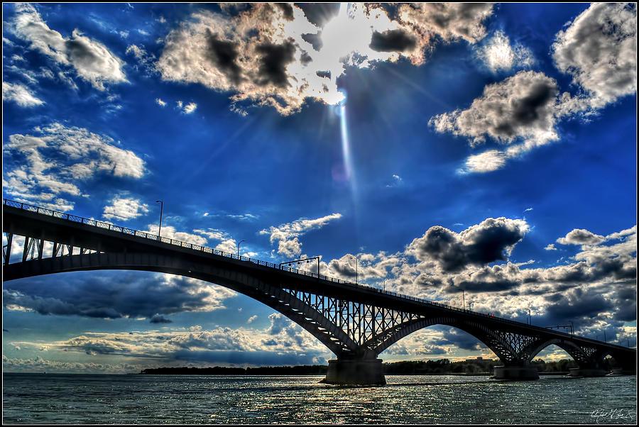 008 Peace Bridge Series II Beautiful Skies Photograph by Michael Frank Jr