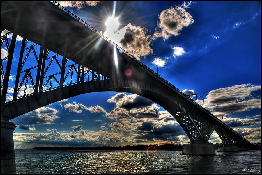 010  Peace Bridge Series II Beautiful Skies Photograph by Michael Frank Jr