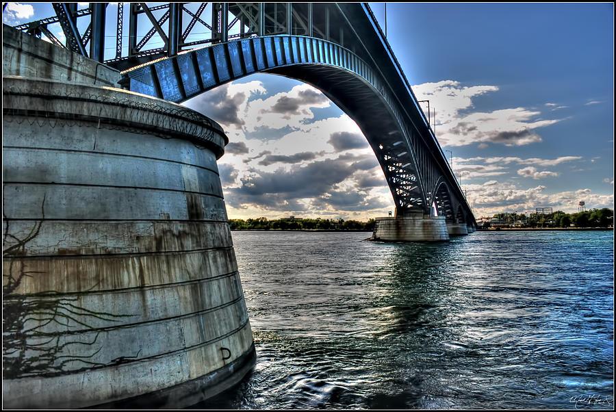 011  Peace Bridge Series II Beautiful Skies Photograph by Michael Frank Jr