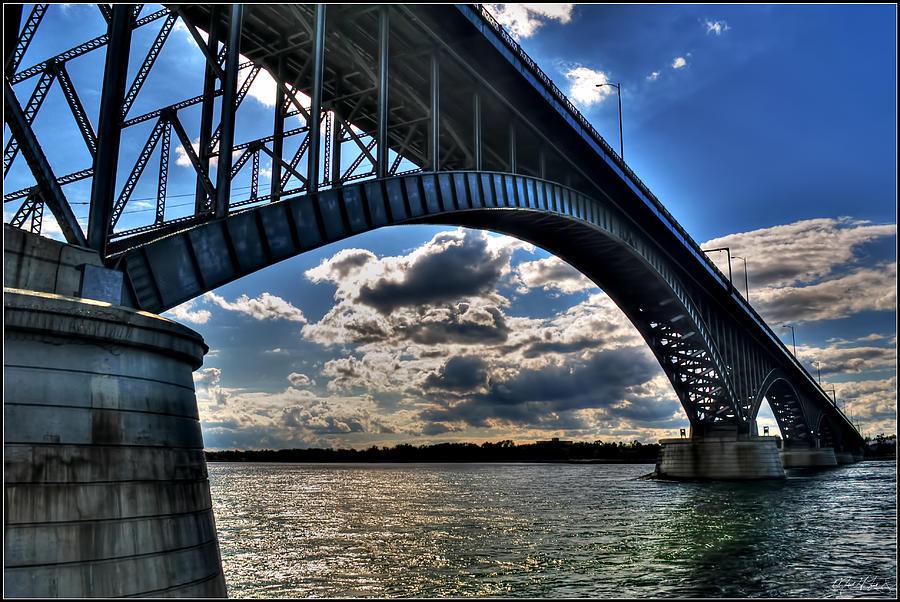012  Peace Bridge Series II Beautiful Skies Photograph by Michael Frank Jr