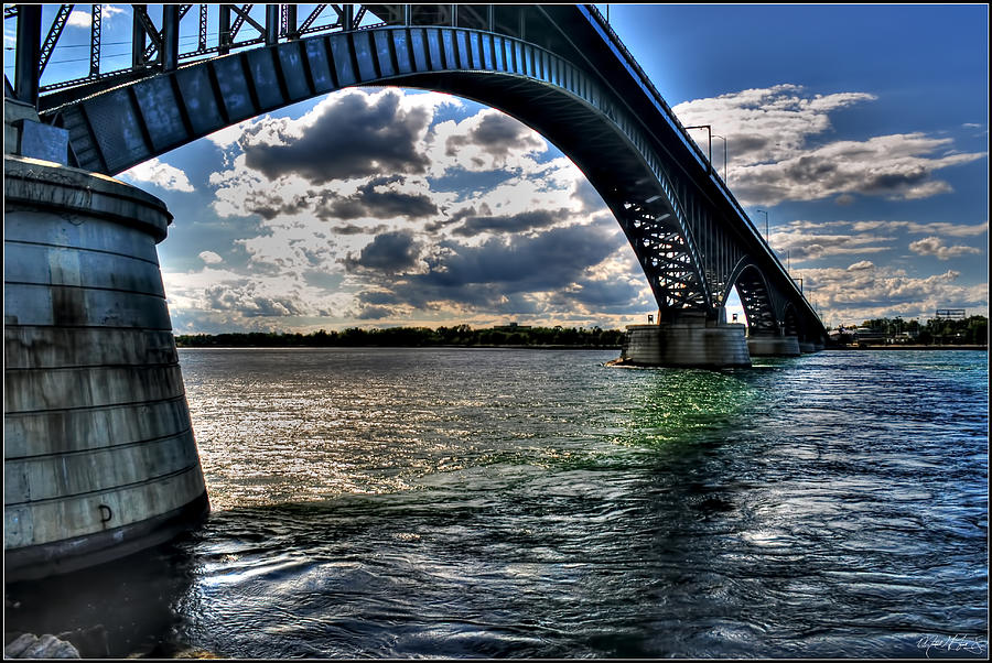 013 Peace Bridge Series II Beautiful Skies Photograph by Michael Frank Jr