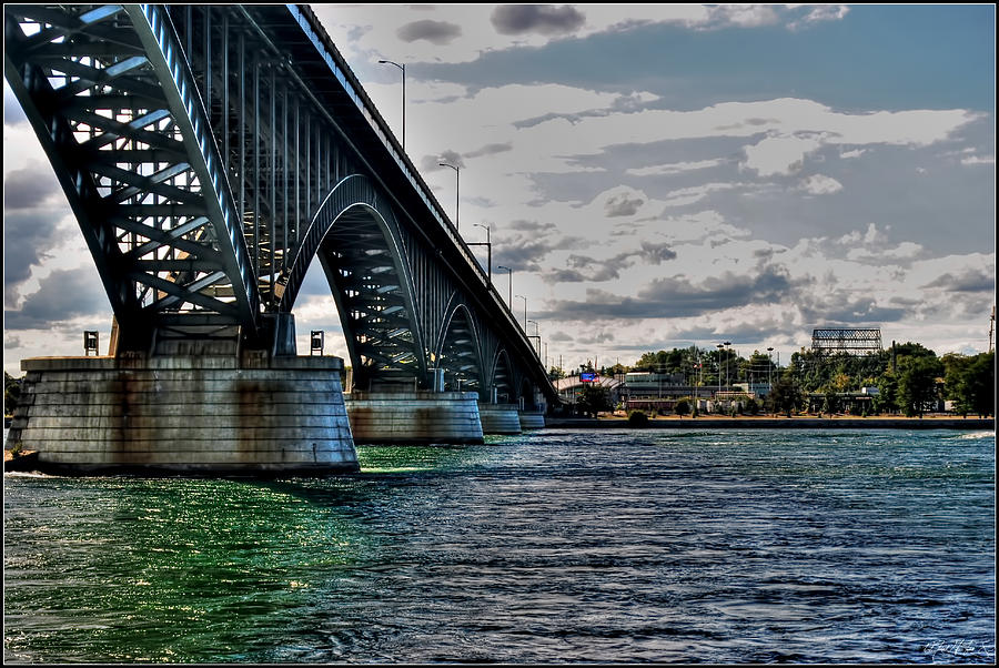 014 Peace Bridge Series II Beautiful Skies Photograph by Michael Frank Jr