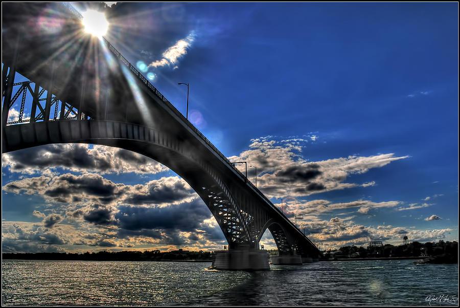 016 Peace Bridge Series II Beautiful Skies Photograph by Michael Frank Jr
