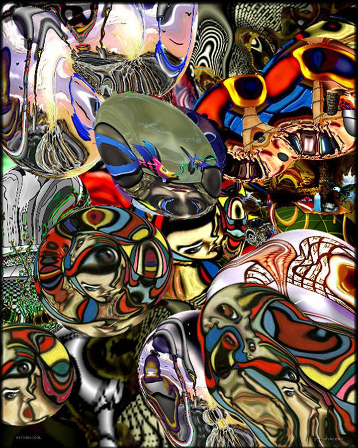 Tossed Salad Digital Art - 01904044col by Michael Yacono
