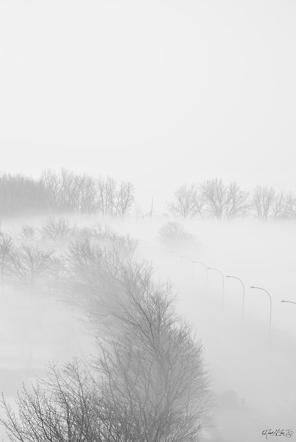 Photograph - 023 Buffalo Ny Weather Fog Series by Michael Frank Jr