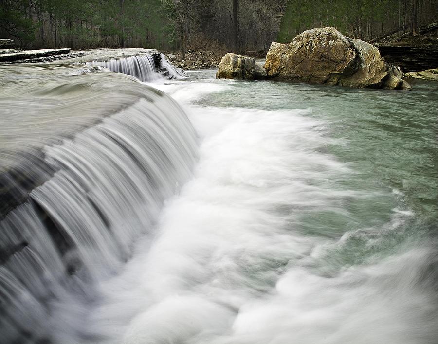 Arkansas Photograph - 0804-0012 Six Finger Falls 1 by Randy Forrester