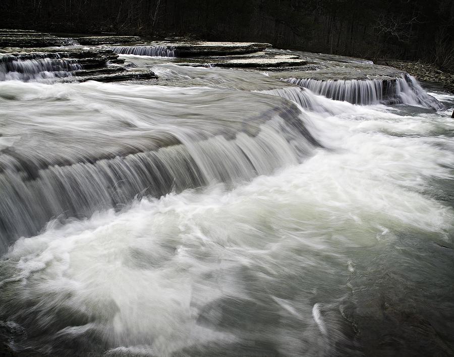 Arkansas Photograph - 0804-0113 Six Finger Falls 2 by Randy Forrester