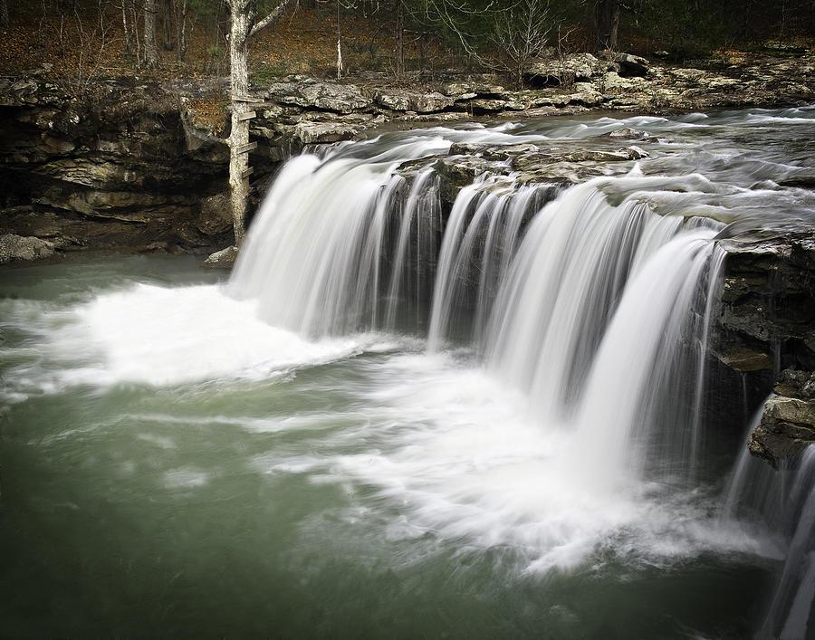 Arkansas Photograph - 0805-005b Falling Water Falls 2 by Randy Forrester