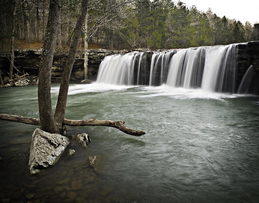 Arkansas Photograph - 0805-0070 Falling Water Falls 3 by Randy Forrester