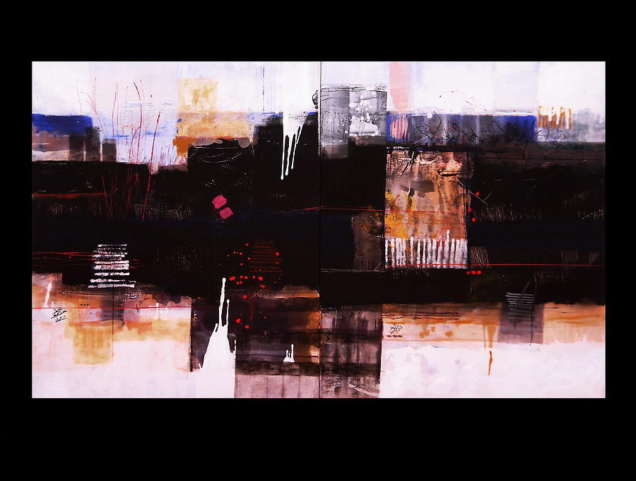 Abstract Paintings Painting -  Diptyc by Mohamed KHASSIF