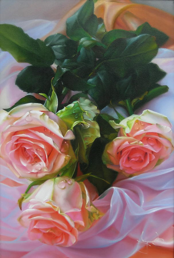 Flowers. Roses. Frower. Floral Composition. Still Life Painting by ...