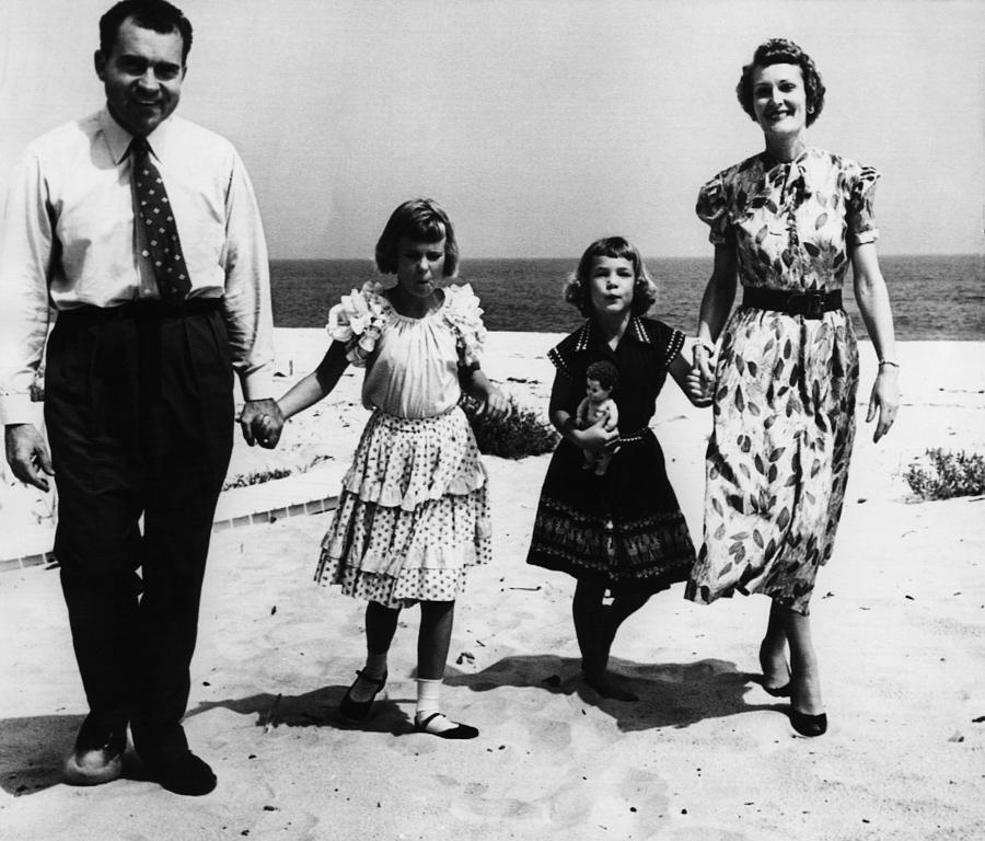 1950s Photograph - 1956 Us Presidency, Nixon Family.  From by Everett