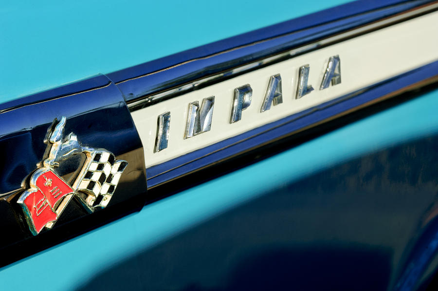 1959 Chevrolet Impala Photograph - 1959 Chevrolet Impala Emblem by Jill Reger