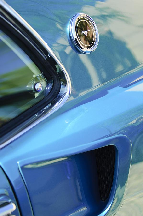 1969 Ford Mustang Mach 1 Photograph - 1969 Ford Mustang Mach 1 Emblem 2 by Jill Reger