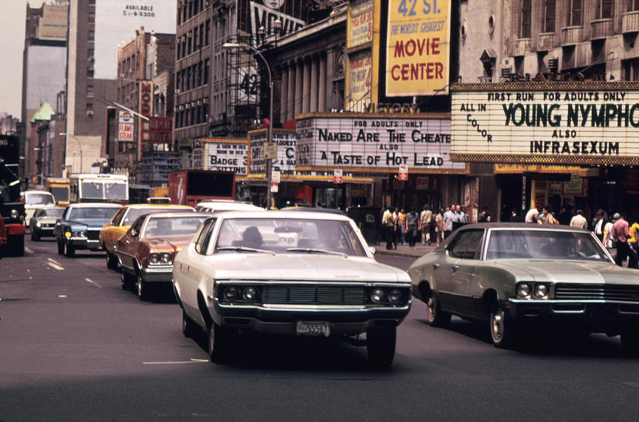 1970s America 42nd Street Between 7th Photograph By Everett
