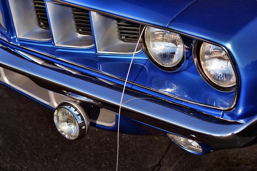 Blue Photograph - 1971 Plymouth Hemicuda by Gordon Dean II