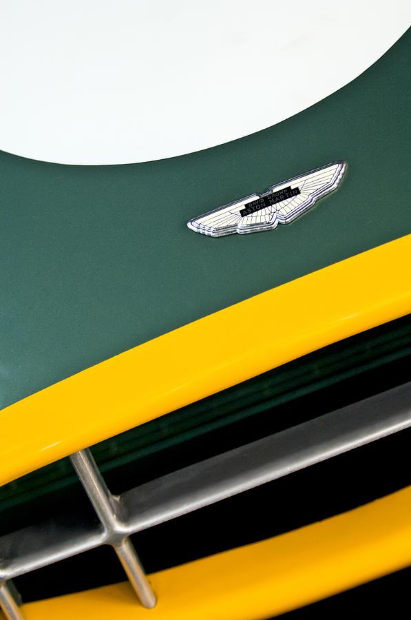Emblem Photograph - 1993 Aston Martin Dbr2 Recreation Hood Emblem by Jill Reger