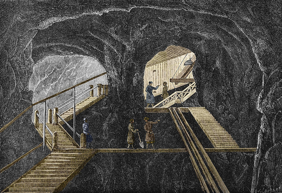 Staircase Photograph - 19th-century Mining by Sheila Terry