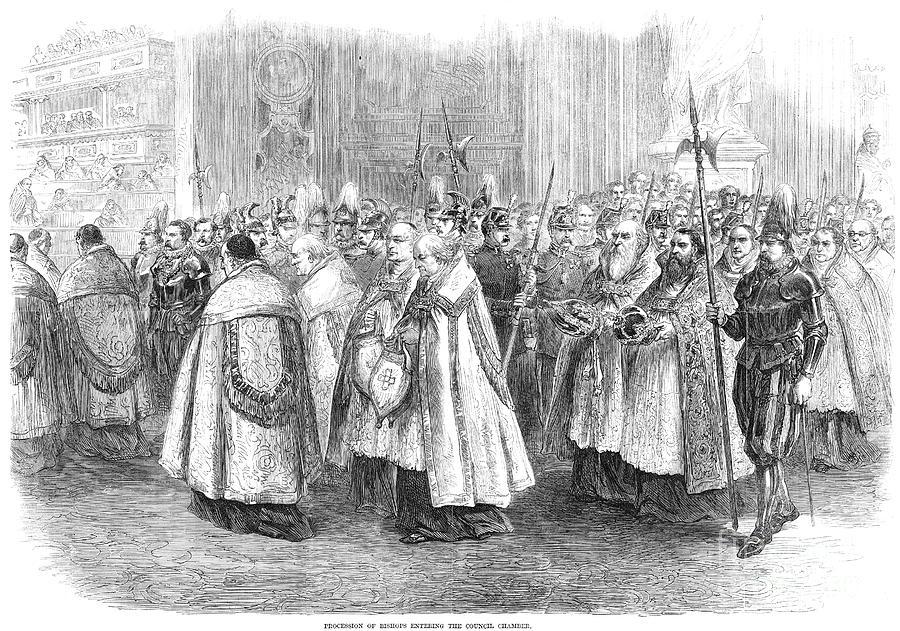 1869 Photograph - 1st Vatican Council, 1869 by Granger