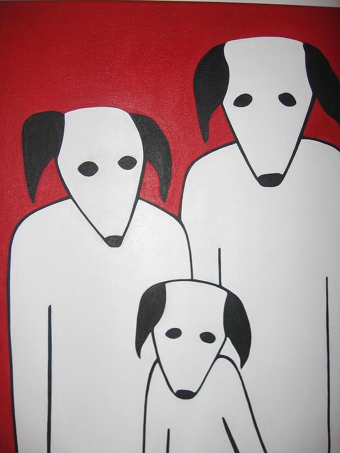 Dogs Painting - 3 Jacks by Sandra McHugh