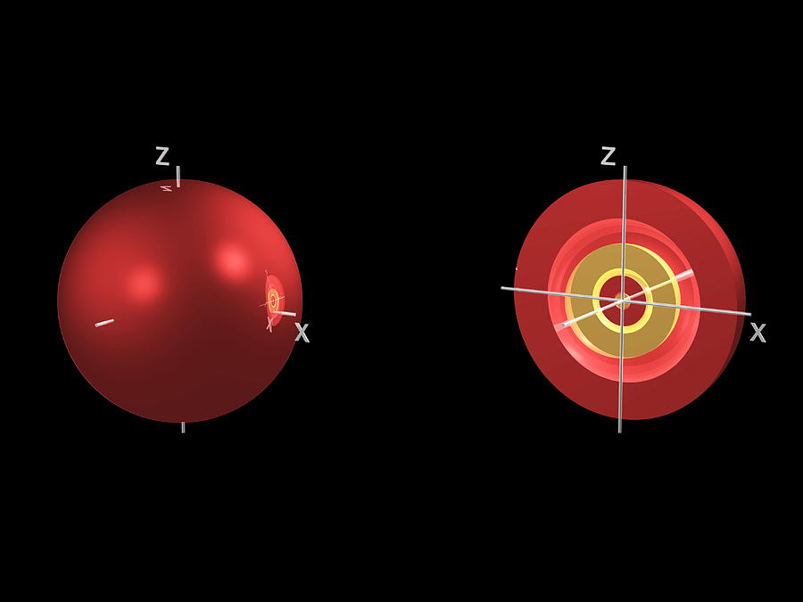 4s Photograph - 4s Electron Orbital by Dr Mark J. Winter