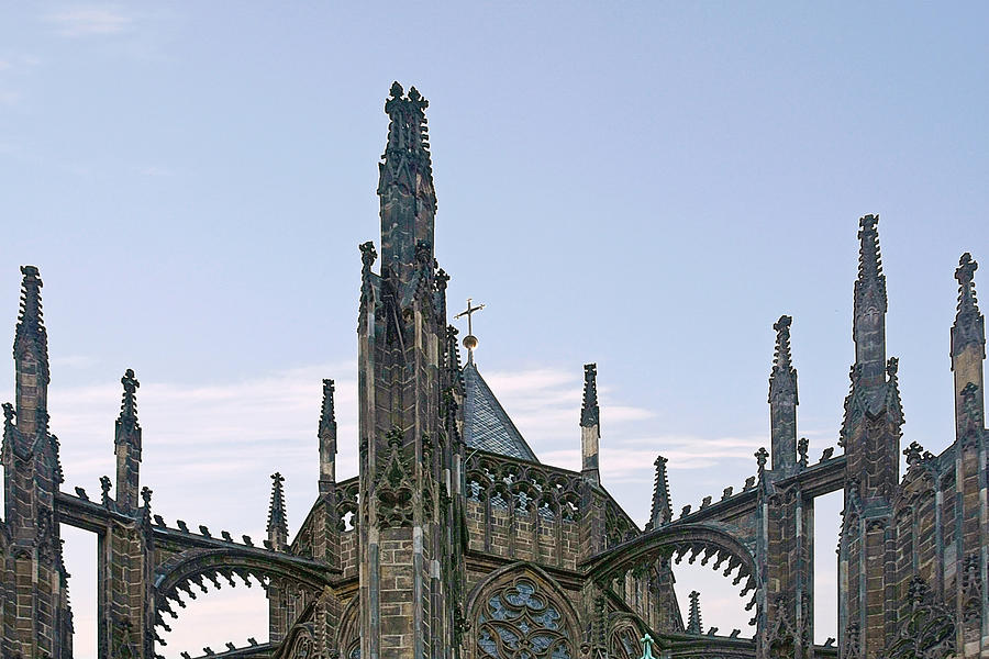 Vitus Photograph - A Forest Of Spires - St Vitus Cathedral Prague by Christine Till