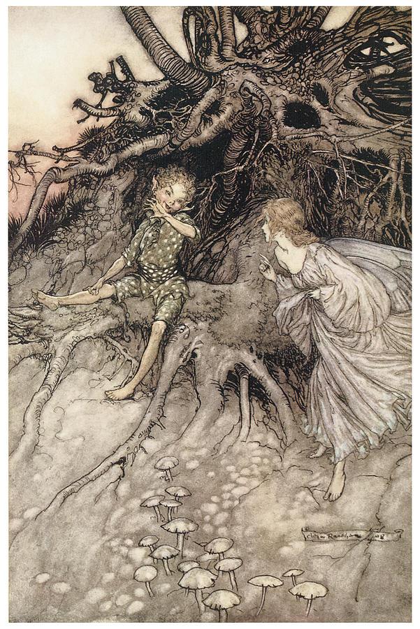 A Midsummer Night's Dream Painting - A Midsummer Nights Dream by Arthur Rackman