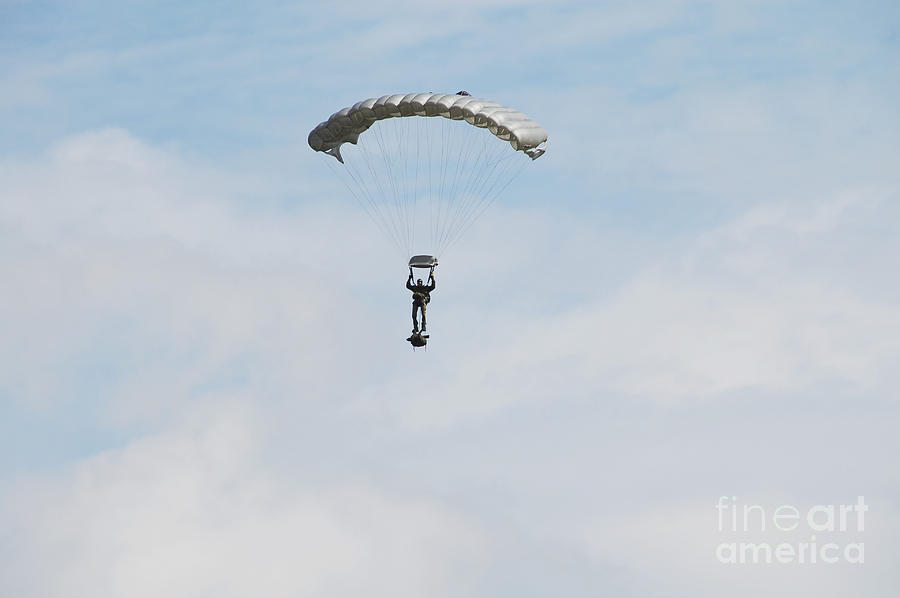 Adults Only Photograph - A Paratrooper Of The Belgian Army by Luc De Jaeger