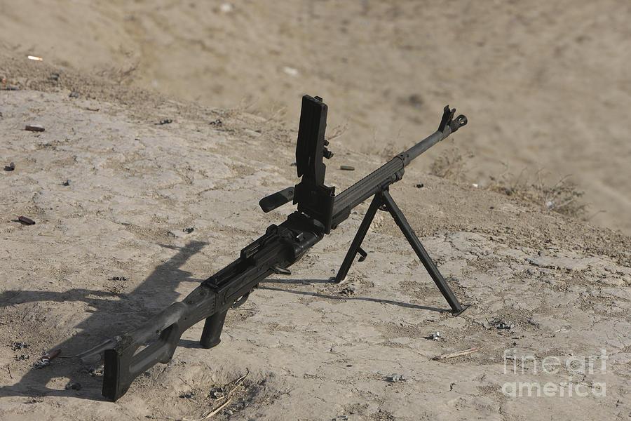 Pk Machine Gun Photograph - A Pk 7.62 Mm General-purpose Machine by Terry Moore