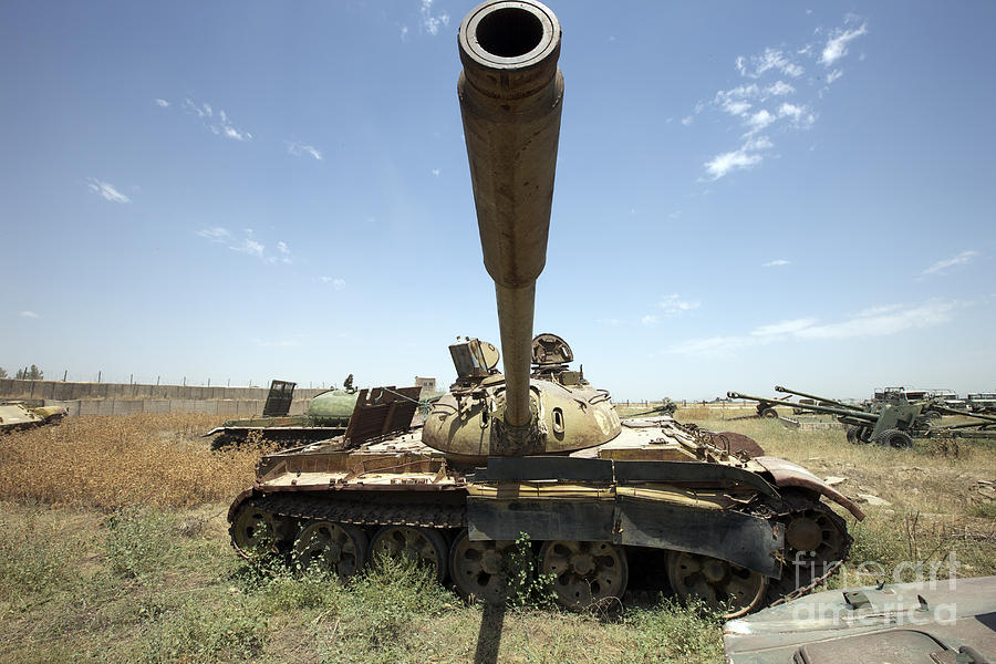 T-55 Photograph - A Russian T-55 Main Battle Tank by Terry Moore