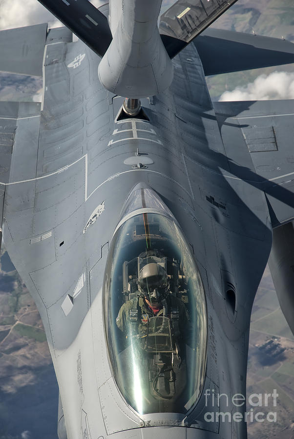 Transportation Photograph - A U.s. Air Force F-16c Fighting Falcon by Giovanni Colla