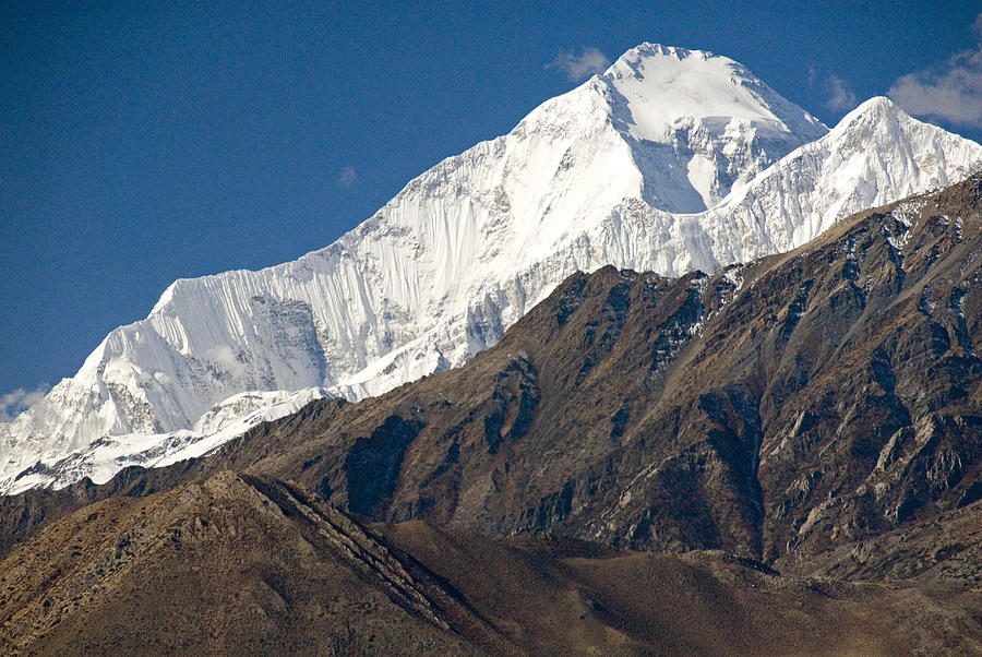 Dhaulagiri Photograph - A View Of Dhaulagiri From The North by Stephen Sharnoff