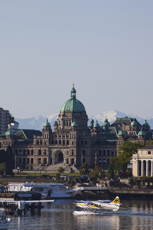 Victoria Photograph - A View Of The Legislative Building by Taylor S. Kennedy