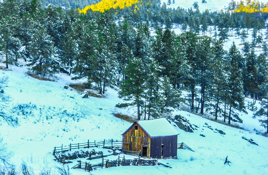 Colorado Photograph - Abandoned Barn Lll by Shannon Harrington