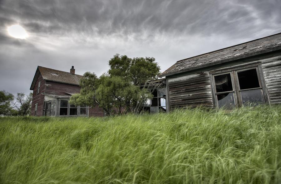 Abandoned Digital Art - Abandoned Farm by Mark Duffy