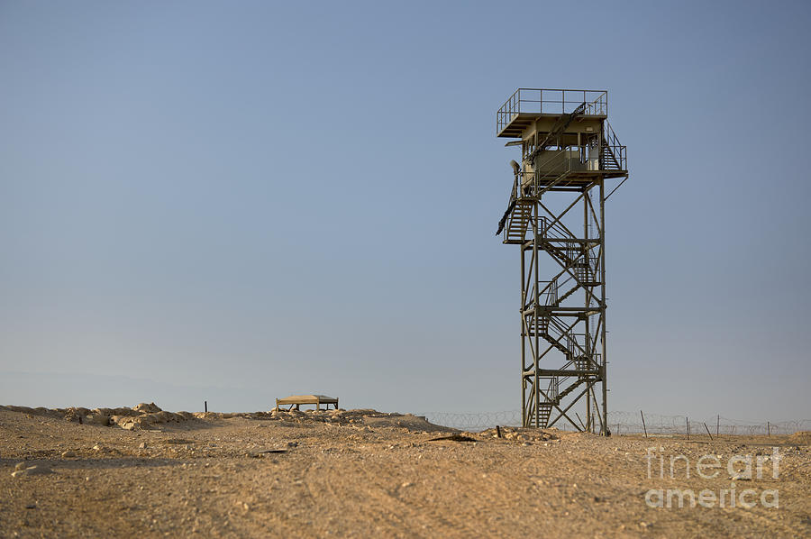 Abandoned Photograph - Abandoned Watchtower In The Desert by Noam Armonn