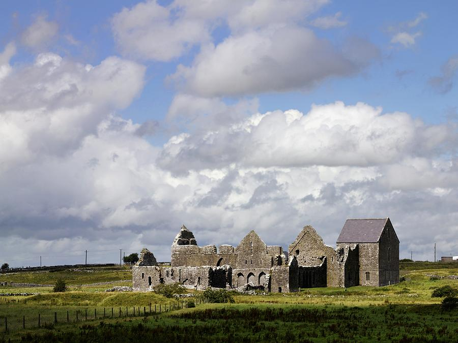 Cloud Photograph - Abbeyknockmoy, Cistercian Abbey Of by The Irish Image Collection