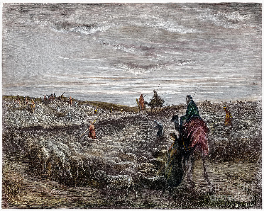 Abraham Photograph - Abraham Entering Canaan by Granger