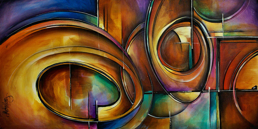 Abstract Design Painting By Michael Lang