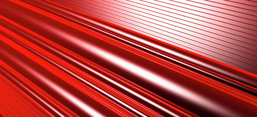 Abstract Line Pattern Digital Art by Ralf Hiemisch
