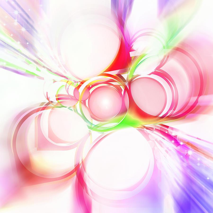 Rainbow Painting - Abstract Of Circle  by Setsiri Silapasuwanchai
