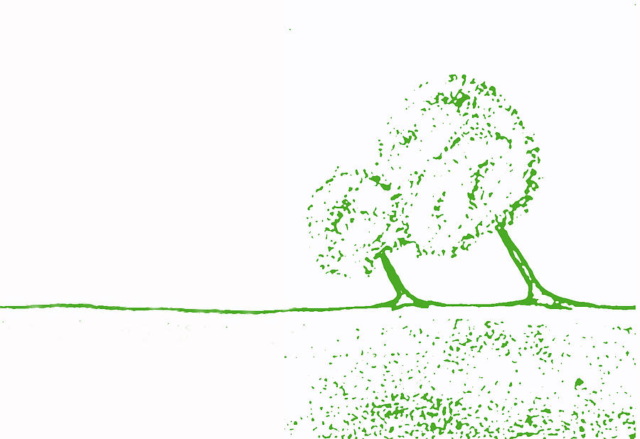 Illustration Painting - Abstract Tree Art By Shawna Erback by Shawna Erback