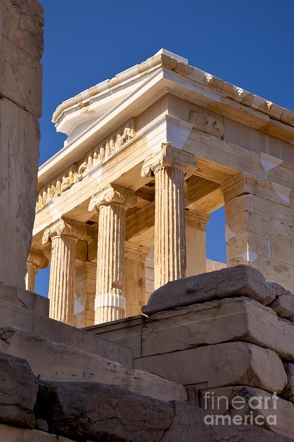 Acropolis Photograph - Acropolis Temple by Brian Jannsen