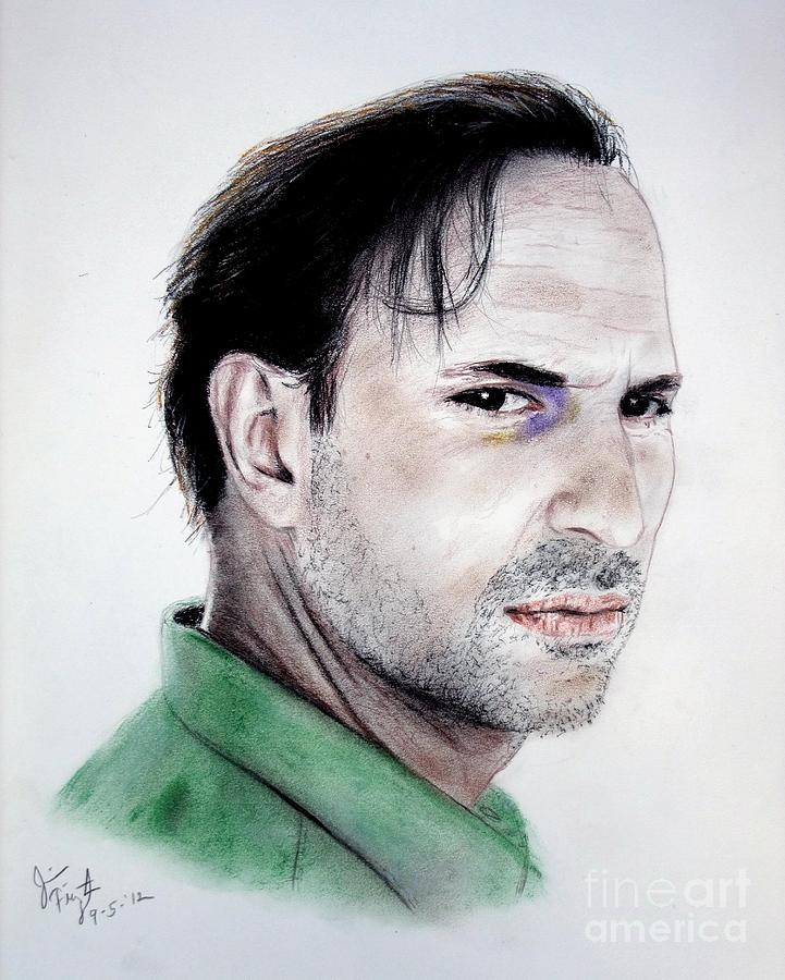 Oscar Torre Drawing - Actor Oscar Torre by Jim Fitzpatrick