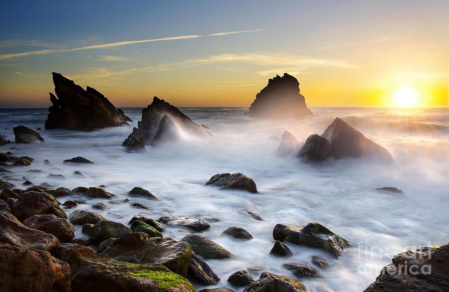 Beach Photograph - Adraga Beach by Carlos Caetano